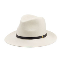 Rag & Bone Floppy Brim Wool Fedora Hat, White