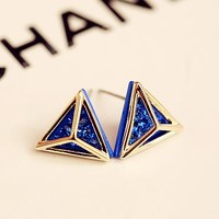 Diamond In Abstract Statement Earrings
