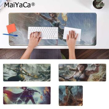 Yinuoda Lara Croft Tomb Raider Reborn  Keyboard Gaming MousePads Size for 180*220 200*250 250*290 300*900  and 400*900*2mm