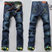 Fashion Stylish Men Pants Korean Weathered Jeans [6528536003]