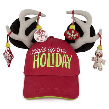 Disney Parks Mickey Light Up the Holiday Baseball Cap for Adults New with Tags