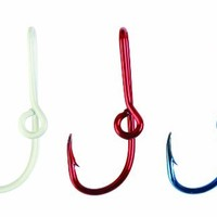 Eagle Claw Hat Hook, 3 Piece (Red/White/Blue)