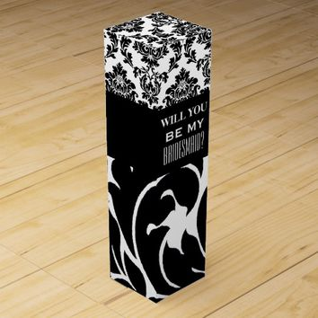 WILL YOU BE MY BRIDESMAID WINE GIFT BOX