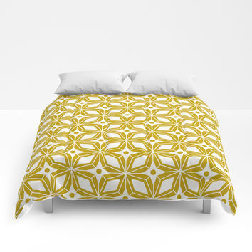 Starburst - Gold Comforters by Heather Dutton