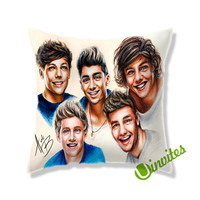 One Direction Caricatur Square Pillow Cover