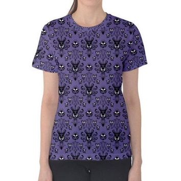 Women's Haunted Mansion Wallpaper Inspired Shirt