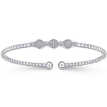 Gabriel Flexible Diamond Bangle Bracelet