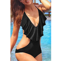 Black Padded Swimwear