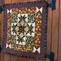 Quilted Wall Hanging, Handmade Autumn/Halloween Table Centerpiece, Fall Table Topper,Seasonal Wall Hanging, Halloween Centerpiece,Home Decor