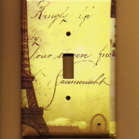 Oversized 35 x 525 Paris Switchplate cover by TurnMeOnArt on Etsy