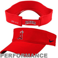 Nike Los Angeles Angels of Anaheim Stadium Adjustable Performance Visor - Red