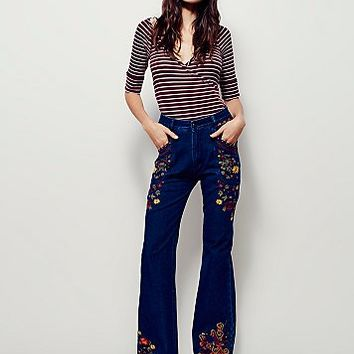 Spell for Free People Womens Wanderlust Embroidered Flare
