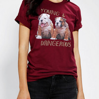 Gals and Fellas By Oval Channel Young & Dangerous Puppies Oversized Tee