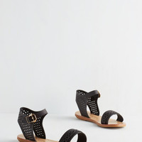 ModCloth Pep Up the Pace Sandal in Black