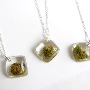Healing Flower Pendant - Real Medical Marijuana Necklace