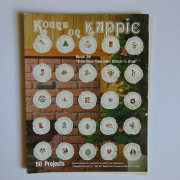 Kappie Counted Cross Stitch Patterns 36 Trim Your Tree Christmas Mini Ornaments