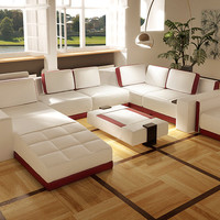 Divani Casa Costa Rico - Contemporary Leather Sectional Sofa Set