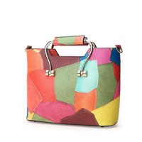 Colorful Patchwork Handbag
