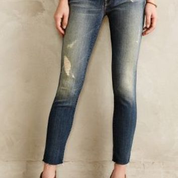 Mother Looker Ankle Fray Jeans Alley Cat