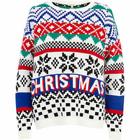 White Christmas fair isle jumper - jumpers - knitwear - women