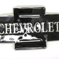 Black Chevrolet Belt Buckle