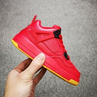 Air Jordan 4 Retro Red Gum Toddler Kid Shoes Child Sneakers - Best Deal Online