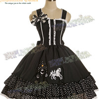 "Sweet Lolita ""Unicorn Carriage"" Polka Dot Dress/JSK*4color Instant Shipping"