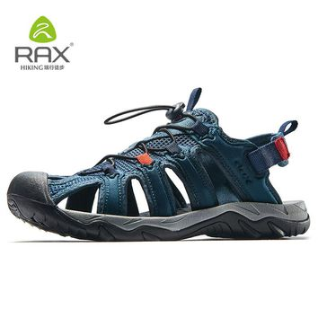 Rax Men's Hiking Shoes Breathable Lightweight Outdoor Sports Sandals Shoes Men Beach Sneakers Quick Drying Fishing Shoes Men 466