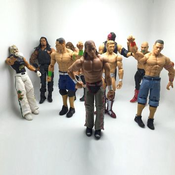 1pc 17cm Wrestling gladiators figures Wrestler action Figures PVC model Toys action toys gifts for boys