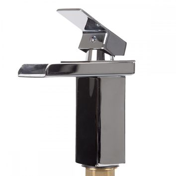 Bathroom Sink Faucet Chrome Vessel Waterfall One Hole/Handle Mixer Tap SQ15