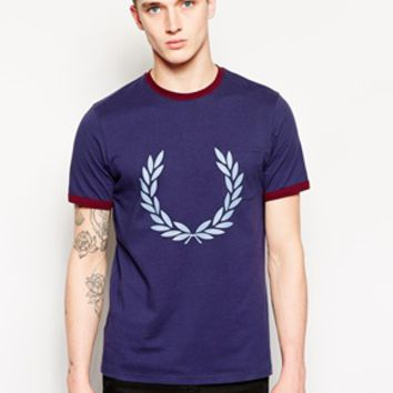 Fred Perry T-Shirt with Large Laurel Print