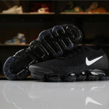 Nike Air VaporMax Flyknit  2018 2.0 Black White 942842-001 Sport Running Shoes - Best Online Sale