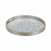 Carraway Tray In Galashields Gold And White