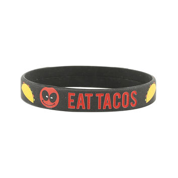 Marvel Deadpool Eat Tacos Rubber Bracelet
