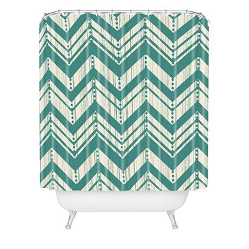 Heather Dutton Weathered Chevron Shower Curtain