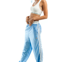 Vintage 90's Ice Ice Blue Baby Iridescent Track Pants - XS/S