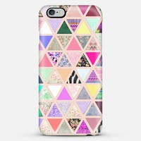 Spring Vintage Abstract Floral Triangle Pastel Patchwork iPhone 6 case by Girly Trend | Casetify