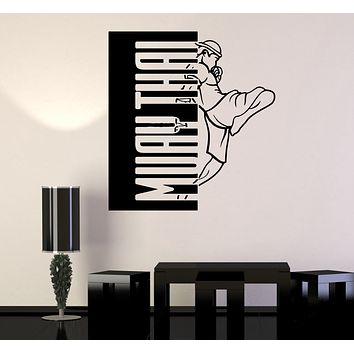 Wall Decal Muay Thai Sports Fighting Fighter Boxing Vinyl Sticker (ed1602)