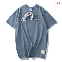 Champion Fashion New Embroidery Letter Women Men Top T-Shirt 11#