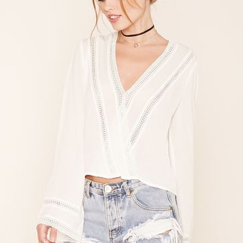 Bell Sleeve Surplice Top