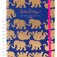 Lilly Pulitzer Large 17 Month Agenda- Tusk in Sun Navy