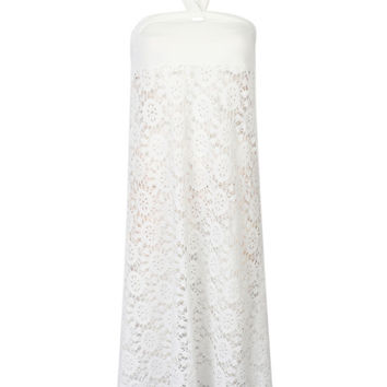 White Halter Crochet Lace Beach Cover Up