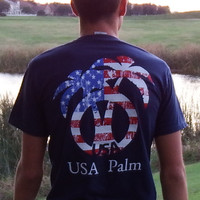 American flag USA Palm logo