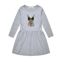 2017 Girls Clothing Girls Dress Children Costume Baby Girls Party Dress Bunny Long Sleeve Cotton Little Princess Spring Outfit