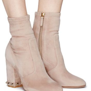 Valentino | 'Rockstud' stretch suede boots | Women | Lane Crawford - Shop Designer Brands Online