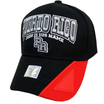 * Puerto Rico Design Cap In Black