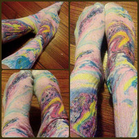 Hand painted socks, unique gift