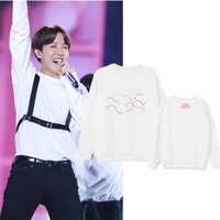 Kpop Bts 4TH MUSTER Sweatshirts Hoodies Pullover Women Men Moleton College Tracksuit Cotton Harajuku Top Coat
