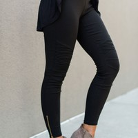 City Slicker Moto Jeggings - Black