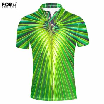 FORUDESIGNS Men Brand Polo Shirt 3D Printing Mens  Camisa Polo Homme For Boys Camisa Masculina Polo Ralphmen Summer Clothes Fit